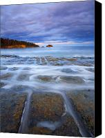 Ocean  Canvas Prints - Tesselated Sunset Canvas Print by Mike  Dawson