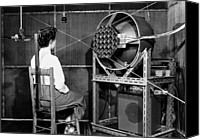 Listener Canvas Prints - Testing An Audio System, 1954 Canvas Print by National Physical Laboratory (c) Crown Copyright