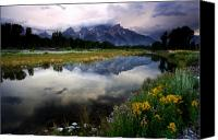 Rocky Mountains Canvas Prints - Teton Reflections Canvas Print by Eric Foltz