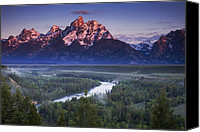 Grand Teton Canvas Prints - Tetons Morning Canvas Print by Andrew Soundarajan