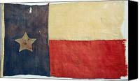 1842 Canvas Prints - Texas Flag, 1842 Canvas Print by Granger