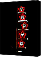 Cliff Lee Digital Art Canvas Prints - Texas Theater Canvas Print by Kitty Geno