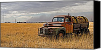 Rural Texas Canvas Prints - Texas Truck WS Canvas Print by Peter Tellone