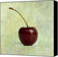 Vintage Canvas Prints - Textured cherry. Canvas Print by Bernard Jaubert