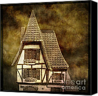 Miniatures Canvas Prints - Textured house Canvas Print by Bernard Jaubert