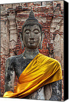 Asia Digital Art Canvas Prints - Thai Buddha Canvas Print by Adrian Evans