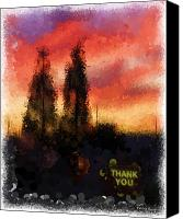 Corel Painter Canvas Prints - Thank You Canvas Print by Patricia Stalter
