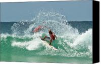 Kelly Slater Canvas Prints - That Kelly Slater Wave magic Canvas Print by Odille Esmonde-Morgan