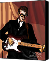 Epiphone Canvas Prints - Thatll Be The Day- Buddy Holly Canvas Print by David Fossaceca