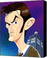Tardis Canvas Prints - The 10th Doctor Canvas Print by Kevin Greene