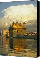 Religious Structures Canvas Prints - The 16-th Century Golden Temple Canvas Print by Martin Gray