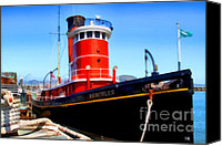 Hyde Street Pier Canvas Prints - The 1907 Hercules Steam Tug Boat . 7D14141 Canvas Print by Wingsdomain Art and Photography