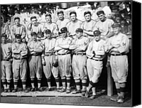 Team Canvas Prints - The 1911 New York Giants Baseball Team Canvas Print by International  Images