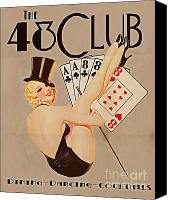 Tampa Digital Art Canvas Prints - The 48 Club Canvas Print by Cinema Photography