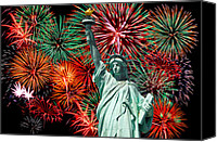 4th July Canvas Prints - The 4th of July Canvas Print by Anthony Sacco