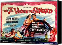 Horror Fantasy Movies Canvas Prints - The 7th Voyage Of Sinbad, Aka The Canvas Print by Everett
