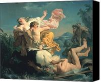 Rape Canvas Prints - The Abduction of Deianeira by the Centaur Nessus Canvas Print by Louis Jean Francois Lagrenee