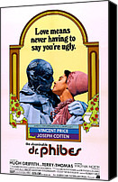 Horror Movies Canvas Prints - The Abominable Dr. Phibes, From Left Canvas Print by Everett