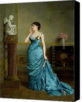 Gown Canvas Prints - The Accomplice Canvas Print by Auguste Maurice Cabuzel