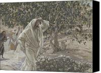 Dry Painting Canvas Prints - The Accursed Fig Tree Canvas Print by Tissot
