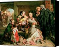 Job Painting Canvas Prints - The Acquittal Canvas Print by Abraham Solomon