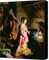 Crib Painting Canvas Prints - The Adoration of the Child Canvas Print by Federico Fiori Barocci or Baroccio