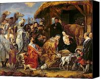 Magi Canvas Prints - The Adoration of the Magi Canvas Print by Jacob Jordaens