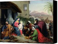 Magi Canvas Prints - The Adoration of the Magi Canvas Print by Jean Pierre Granger