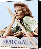 1950s Movies Canvas Prints - The African Queen, Katharine Hepburn Canvas Print by Everett