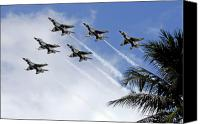 Demonstration Canvas Prints - The Air Force Thunderbirds Canvas Print by Stocktrek Images