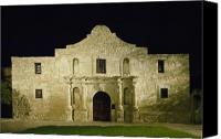 San Antonio Canvas Prints - The Alamo in San Antonio Texas Canvas Print by Carol M Highsmith
