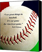 Washington Nationals Canvas Prints - The American Game Canvas Print by CK Knudson
