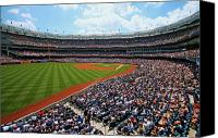 New York Yankees Canvas Prints - The American Game Canvas Print by Mitch Cat