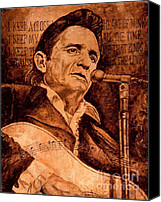 Johnny Cash Canvas Prints - The American Legend Canvas Print by Igor Postash