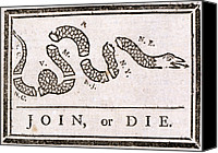 American Revolution Canvas Prints - The American Revolution, Join Or Die Canvas Print by Everett