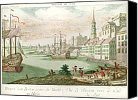 American Revolution Canvas Prints - The American Revolution, Vue De Boston Canvas Print by Everett