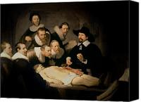Book Canvas Prints - The Anatomy Lesson of Doctor Nicolaes Tulp Canvas Print by Rembrandt Harmenszoon van Rijn