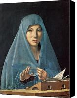 Reading Painting Canvas Prints - The Annunciation Canvas Print by Antonello da Messina
