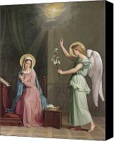 Virgin Mary Painting Canvas Prints - The Annunciation Canvas Print by Auguste Pichon