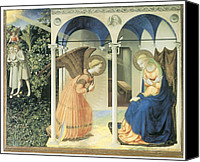 Annunciation Canvas Prints - The Annunciation Canvas Print by Fra Angelico