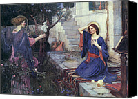 Annunciation Canvas Prints - The Annunciation Canvas Print by John William Waterhouse