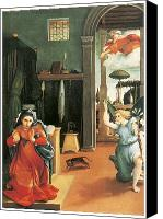 Annunciation Canvas Prints - The Annunciation Canvas Print by Lorenzo Lotto