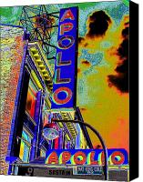 Apollo Theater Canvas Prints - The Apollo Canvas Print by Steven Huszar