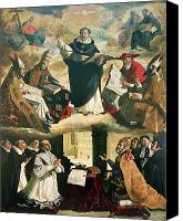 Dominican Canvas Prints - The Apotheosis of Saint Thomas Aquinas Canvas Print by Francisco de Zurbaran