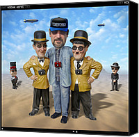 Heads Digital Art Canvas Prints - The Apprentice  Canvas Print by Mike McGlothlen