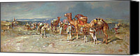 Signed Painting Canvas Prints - The Arab Caravan   Canvas Print by Italian School