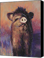 Pot-bellied Pig Canvas Prints - The Aristocrat Canvas Print by Billie Colson