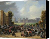 Onlookers Canvas Prints - The Arrival of Louis-Philippe Canvas Print by Edouard Pingret