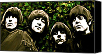Collectibles Canvas Prints - The Art of Sound  The Beatles Canvas Print by Iconic Images Art Gallery David Pucciarelli