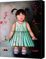 Bobby Canvas Prints - The Artist-Beginning of a child prodigy Canvas Print by Leah Saulnier The Painting Maniac